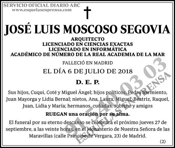 José Luis Moscoso Segovia